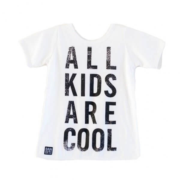 Bandit kids weißes T-shirt all kids are cool