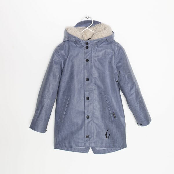 warme outdoor Regenjacke Jeanslook Gosoaky vorne