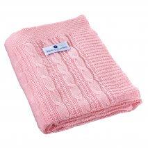 NORDIC COAST COMPANY Baumwolldecke Pink