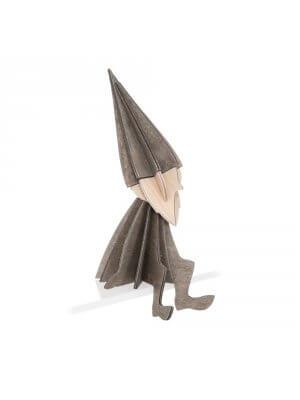 LOVI grauer Holz-Elf (16 cm)