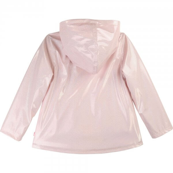 Billieblush raincoat pink girl glitter