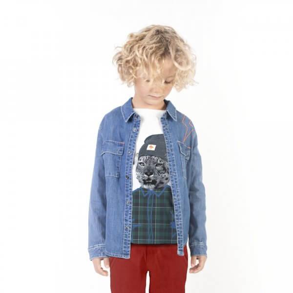 Billybandit-weisses-T-shirt-Gepard-junge