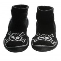 Nununu Collégien Skull slippers black