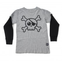 Nununu Skull t-shirt heather grey
