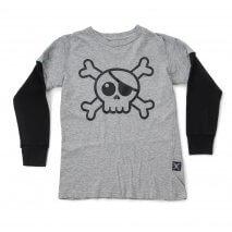 Nununu Skull T-Shirt heather grau