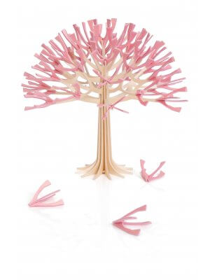 Lovi Cherry Tree 22 cm natural wood / cherry pink