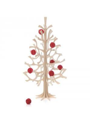 LOVI DIY Holz-Weihnachtsbaum mit Kugeln (30 cm)