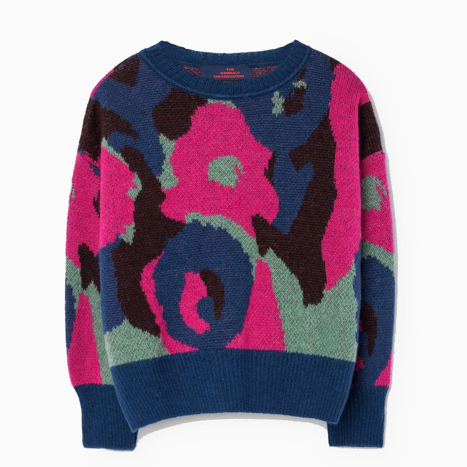 "THE ANIMALS OBSERVATORY Sweatshirt ""Bull"" electric blue"
