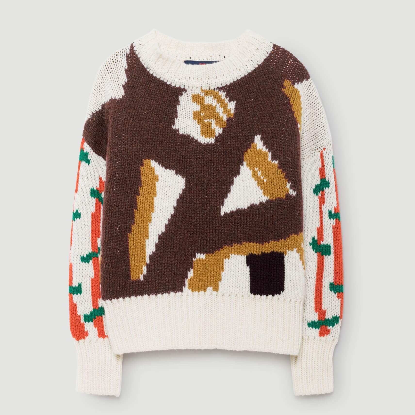 "THE ANIMALS OBSERVATORY Sweatshirt ""Bull"" braun"