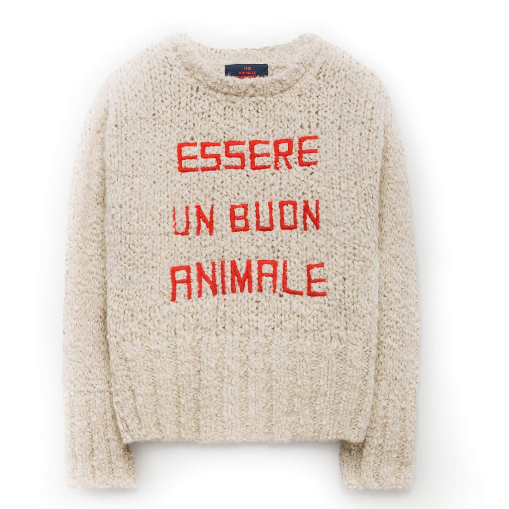 "THE ANIMALS OBSERVATORY Sweatshirt ""Bull"" rot"