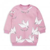 MINI RODINI Peace Sweatshirtkleid pink