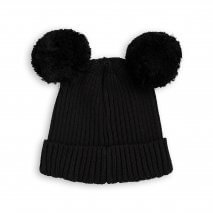 MINI RODINI warme Mütze mit Ohren, Biobaumwolle
