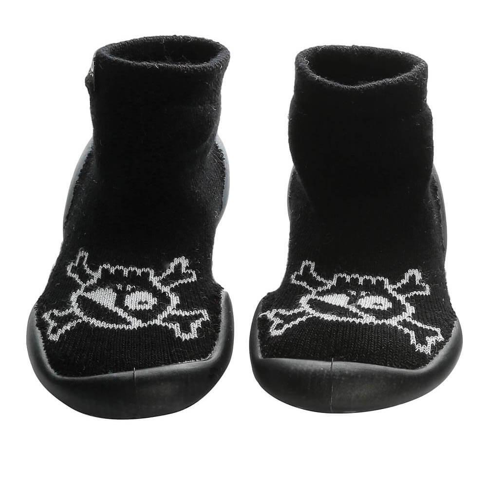 Nununu Collégien Skull slippers black