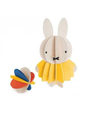 LOVI Holz-Miffy mit Ball (10 cm)
