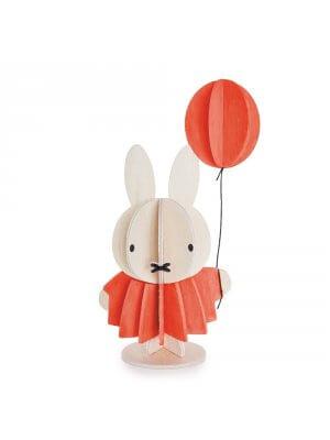 LOVI Holz-Miffy mit Ballon (10 cm)