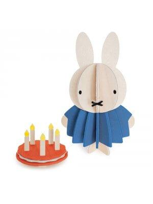 LOVI Holz-Miffy mit Kuchen (10 cm)