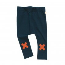 TINYCOTTONS baby logo pants navy