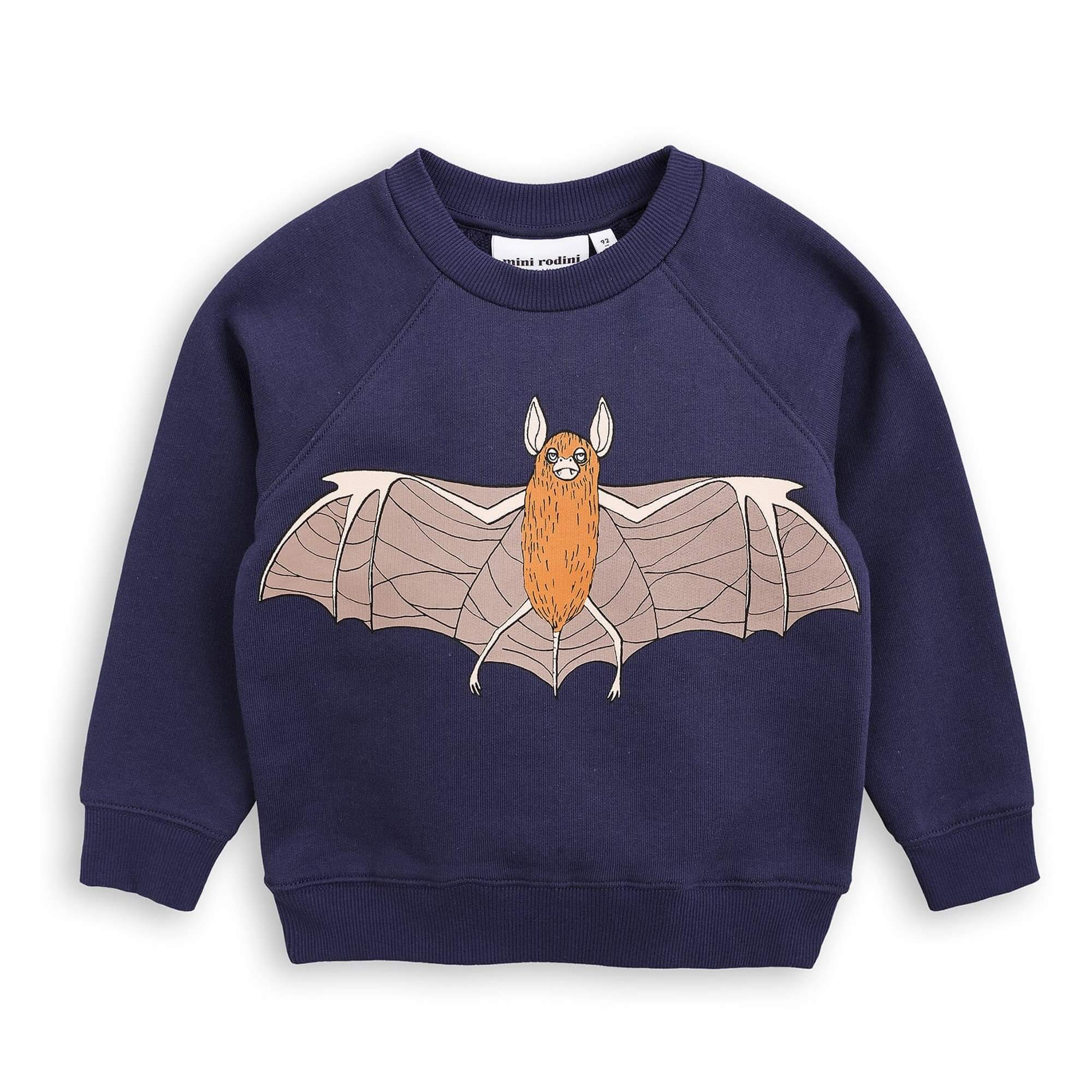 "MINI RODINI Sweatshirt ""Fledermaus"", Biobaumwolle"