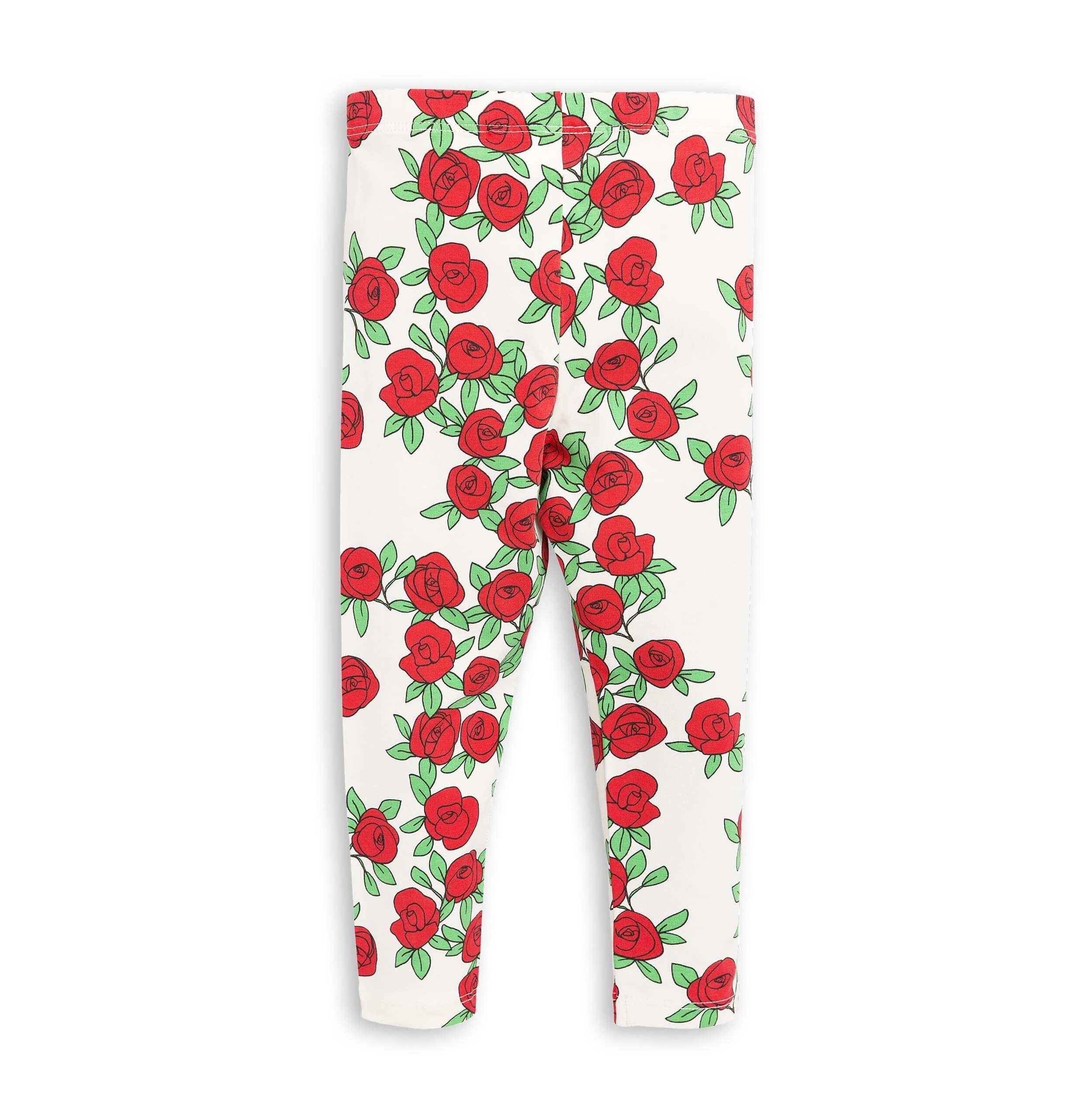 "MINI RODINI Leggings ""Rosen"", Biobaumwolle"