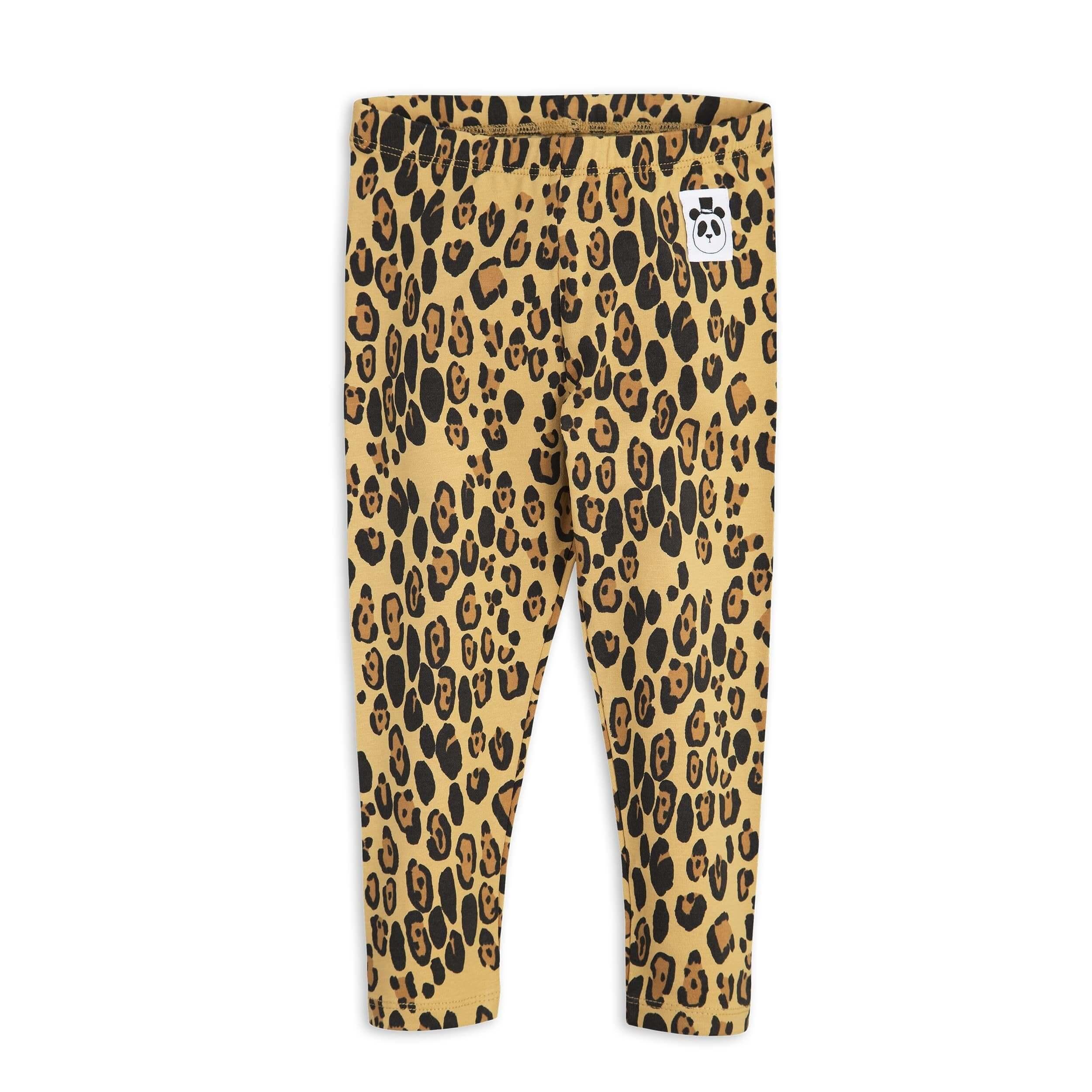 "MINI RODINI Leggings ""Leopard"", Biobaumwolle"