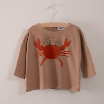 BOBO CHOSES baby t-shirt crab your hands
