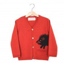 NADADELAZOS knit cardigan wild boar