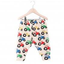 NADADELAZOS baby pants tractors, organic cotton