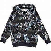 MOLO Russel Kapuzen-Sweatshirt blue tigers
