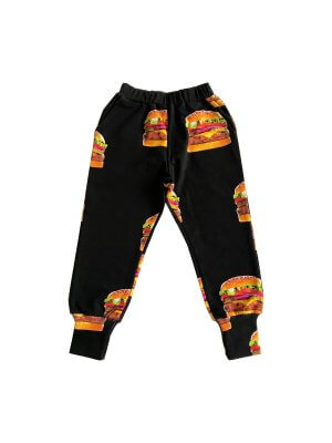 ROMEY LOVES LULU Sweat Pants Long Cuff, Cheeseburgers