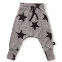 NUNUNU baggy pants stars grey