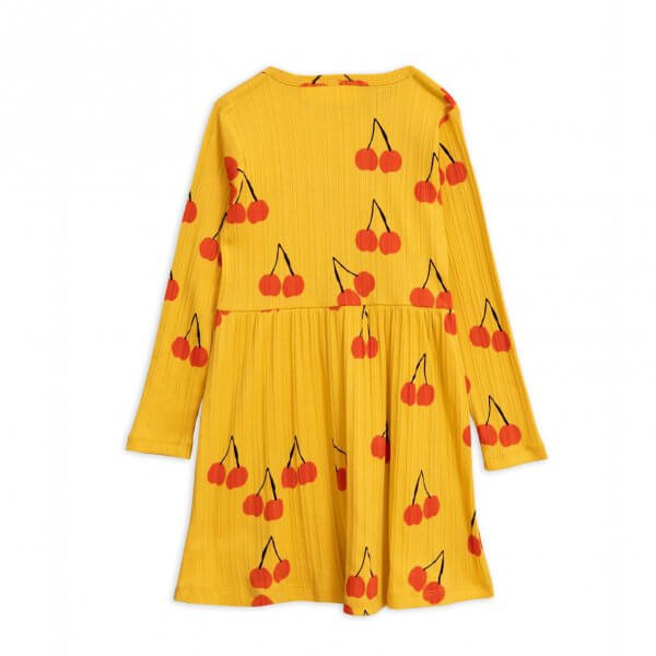 Mini Rodini long sleeved basic yellow dress girl