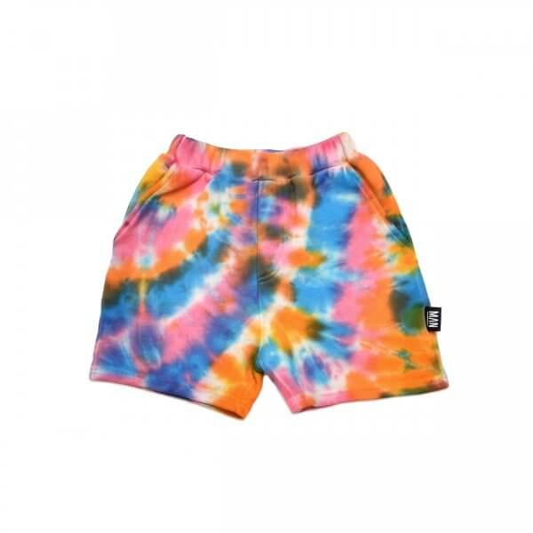 Little Man Happy Bermuda shorts tie dye