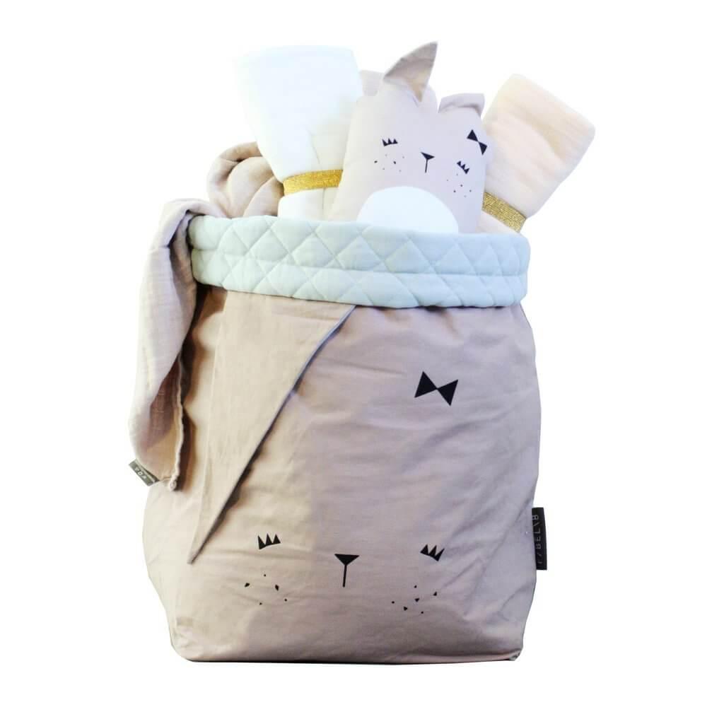 """FABELAB Canvassack """"storage bag cute bunny"""""""