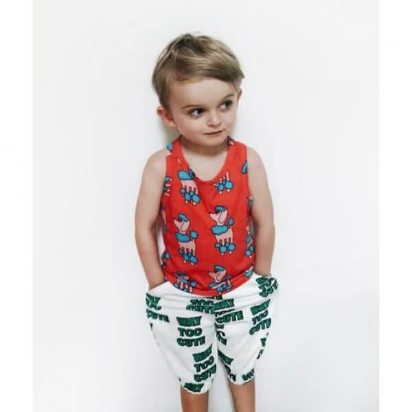 Hugo-loves-tiki-sweatshorts-way-too-cute-toddler