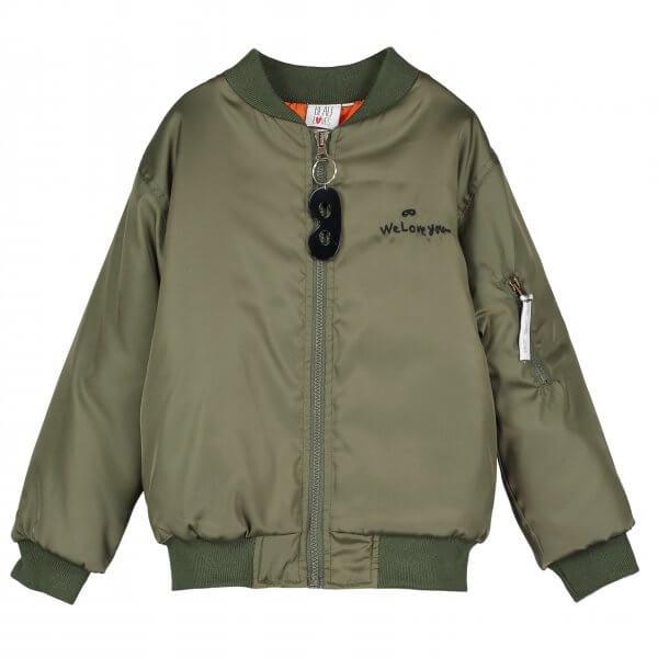 BEAU LOVES- bomber- Jacke-grün