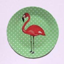 BY MARLENE Melamin-Kinderteller Flamingo - hand gemaltes Design