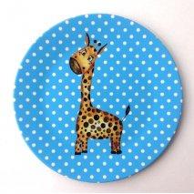 BY MARLENE Melamin-Kinderteller Giraffe- hand gemaltes Design