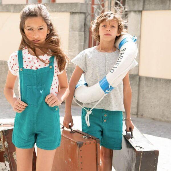 Piupiuchick shorts Emerald-kids