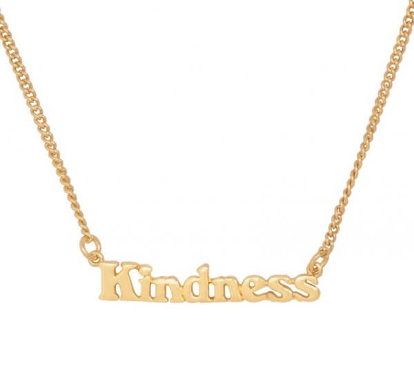 Ban.do Good Intentions Necklace, Kindness, gold-plated 24k
